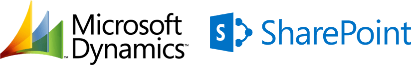 Microsoft Dynamics and SharePoint Logos