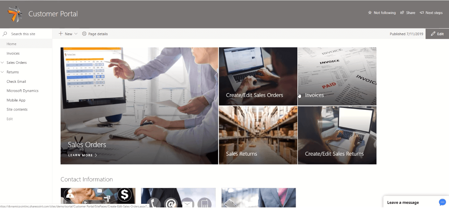 Configure SharePoint For Customers, Vendor, or Employee Portal